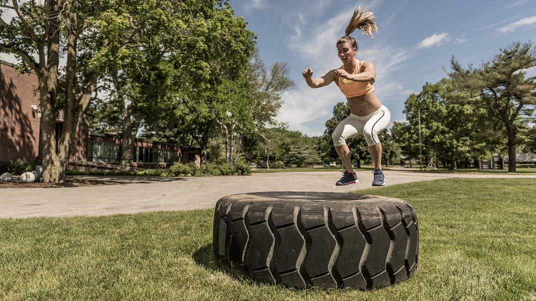 ally wedding moves box jumps