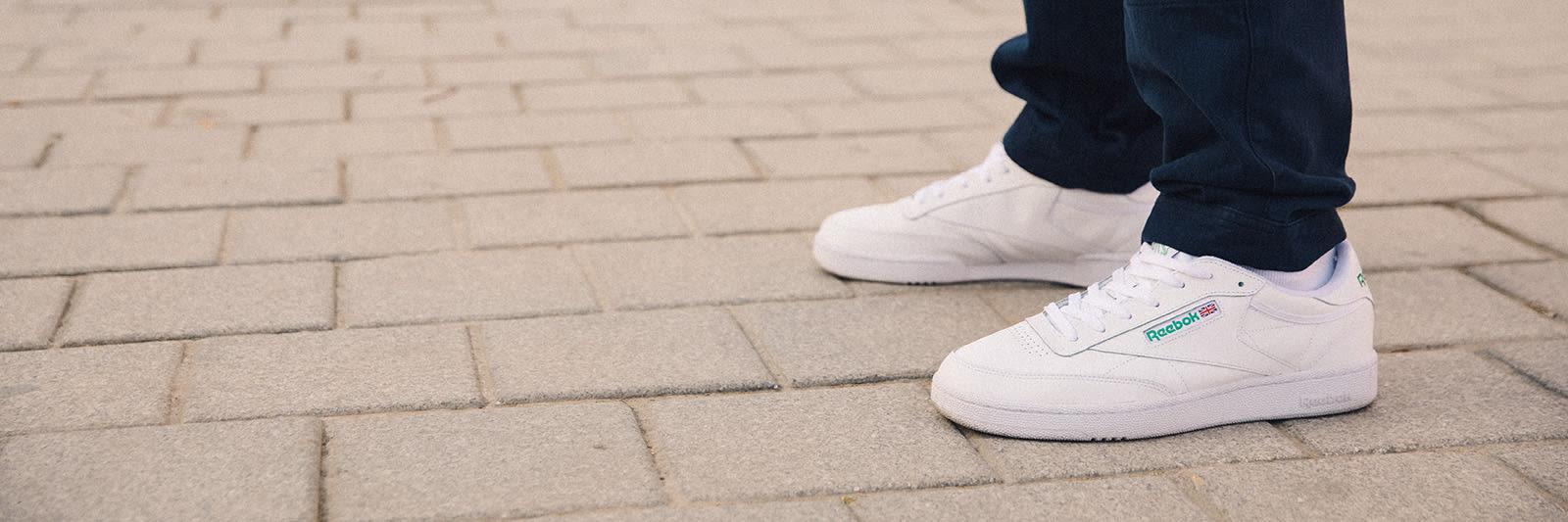 reebok white running sport shoes