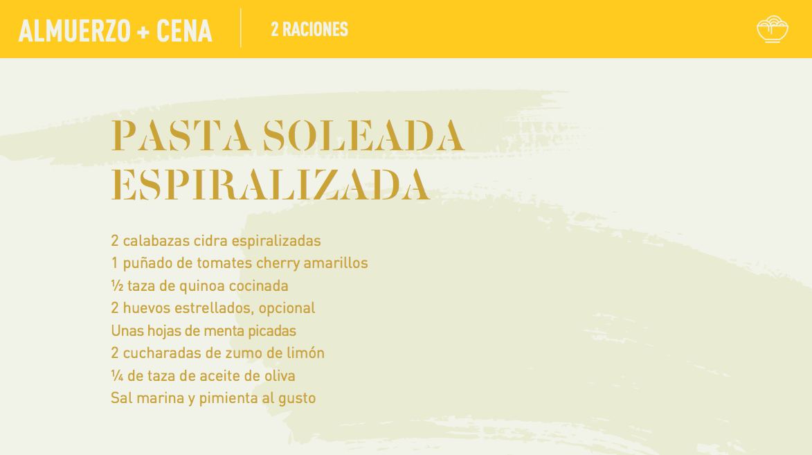 yellow recipe