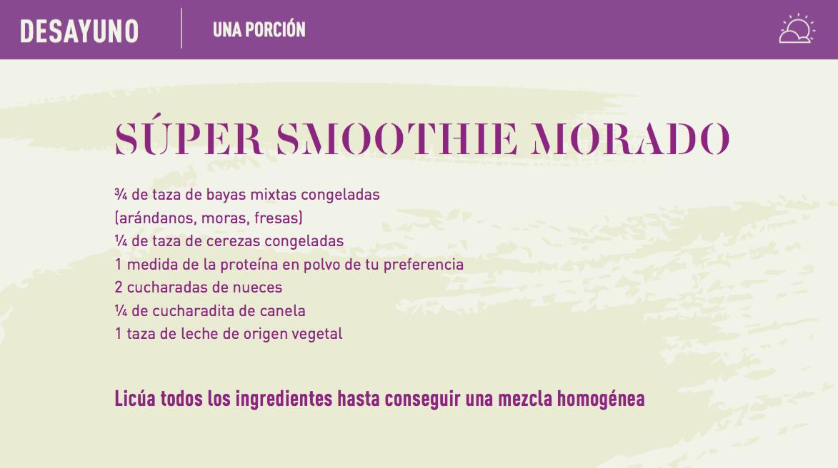 purple recipe breakfast