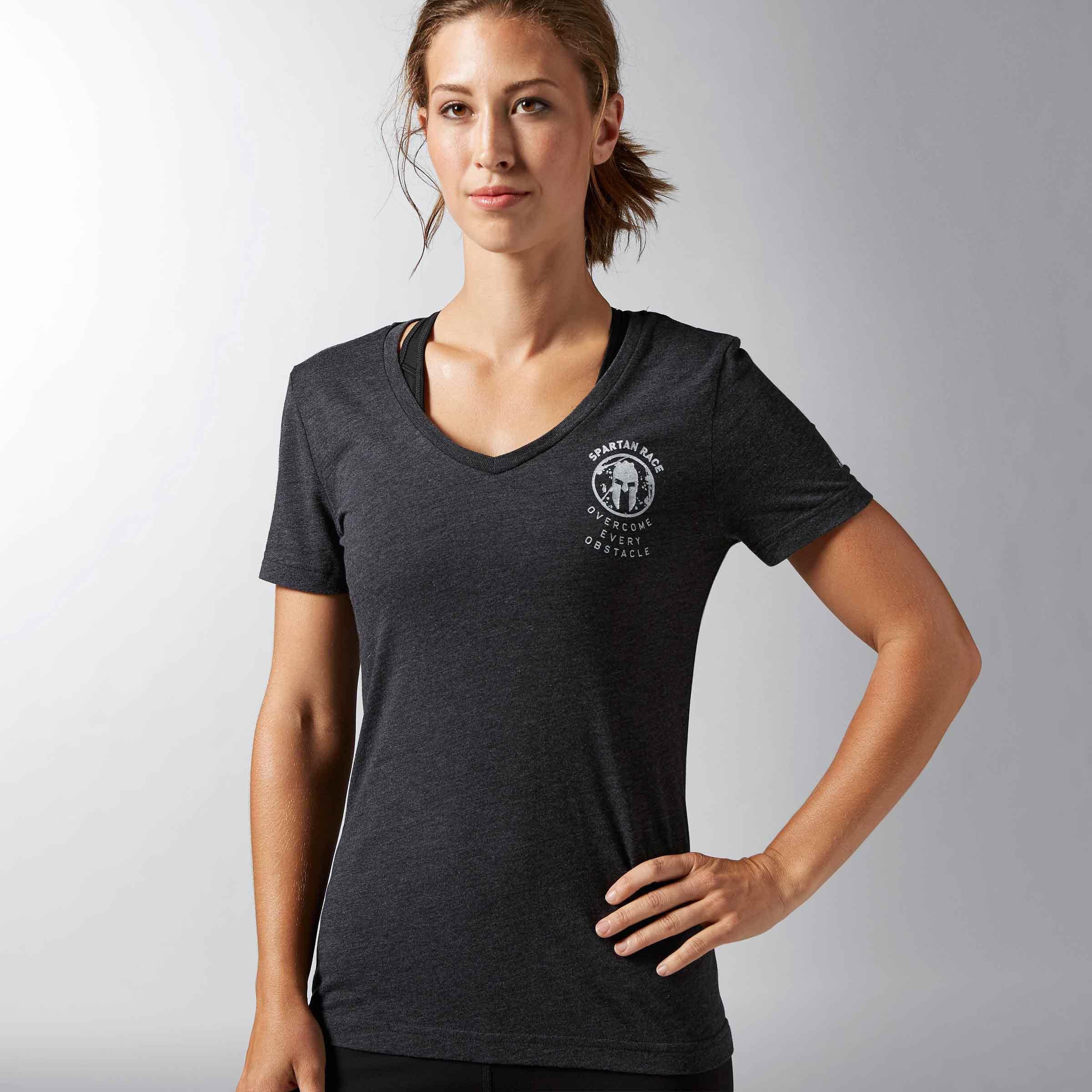 Reebok Spartan Long Sleeve Hooded T-Shirt