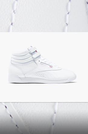 all white reebok shoes
